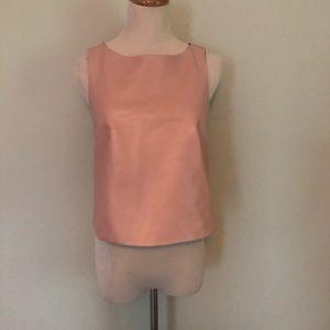 TIBI Pink Genuine Leather Sleeveless Top 💕 Sz: 2
